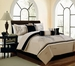 7 Piece Queen Sanger Embroidered Comforter Set
