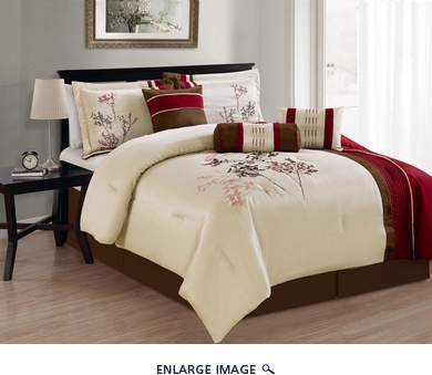 7 Piece Queen Summit Embroidered Comforter Set