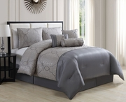 7 Piece Royale Gray/Taupe Comforter Set