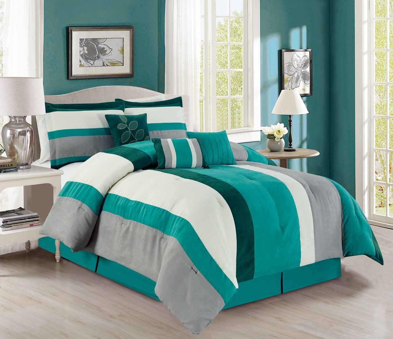 the best 28 images of teal and grey comforter set
