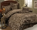 7 Piece Cal King Giraffe Animal Kingdom Bedding Comforter Set