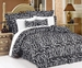 7 Piece Cal King Zebra Animal Kingdom Bedding Comforter Set