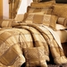 7Pcs Gold Jewel Patchwork Comforter Set King