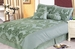 7Pcs King Fresco Patchwork Woven Damsk Sage Comforter Set