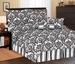 7 Piece Queen Beverly Microfiber Bedding Comforter Set Black