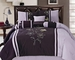 7 Piece Queen Purple and Lavender Embroidered Comforter Set