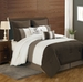 8 Piece Cal King Bayley Coffee and Ivory Comforter Set