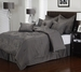 8 Piece Cal King Roselle Charcoal Comforter Set