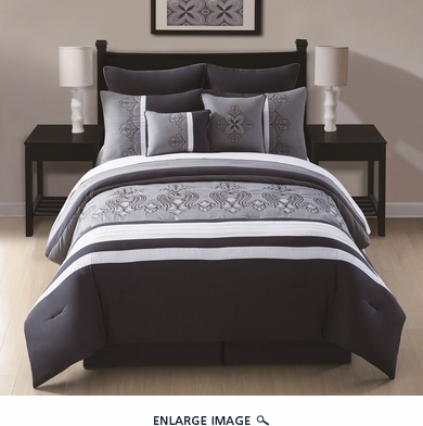 8 Piece Cal King Vivienne Comforter Set
