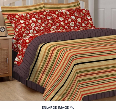 8 Piece Jacqueline Stripe Bed in a Bag King