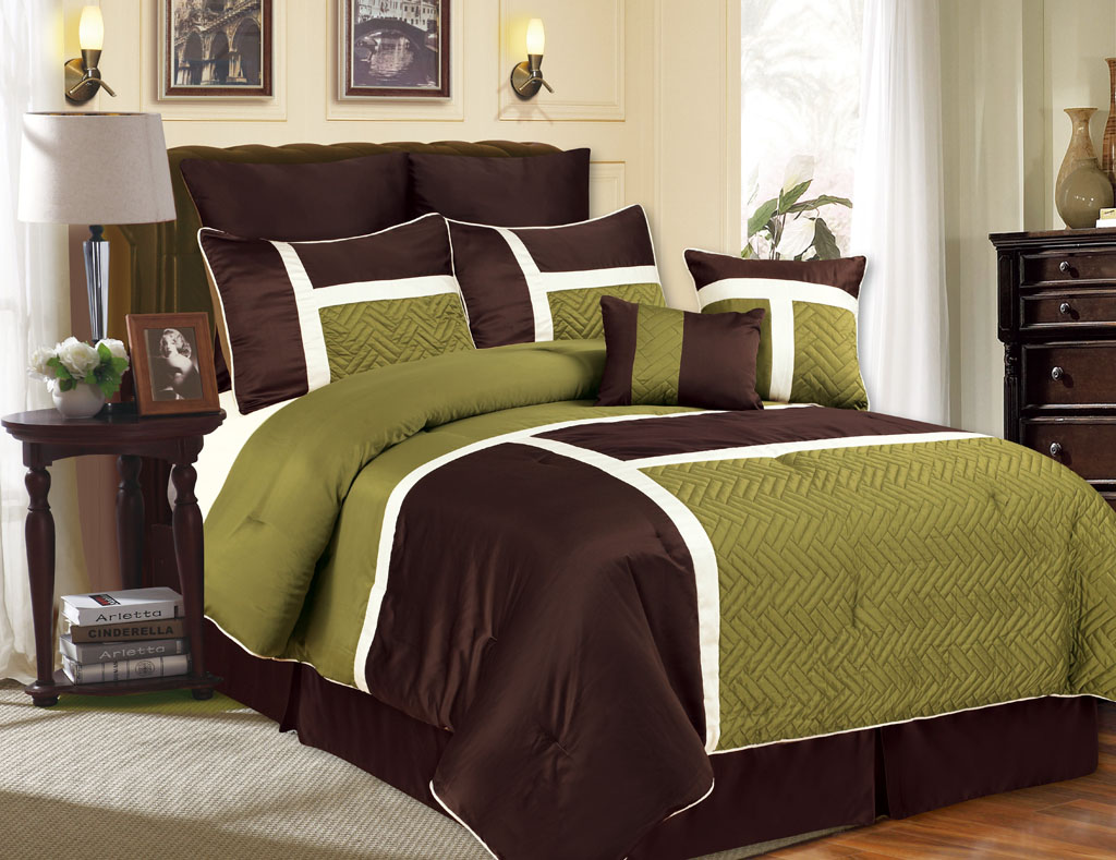 comforter sets queen sage green