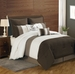 8 Piece King Bayley Coffee and Ivory Comforter Set