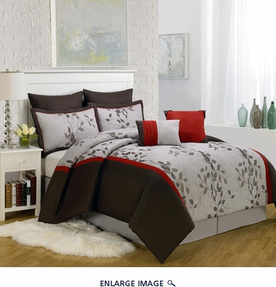 8 Piece King Brookfield Embroidered Comforter Set