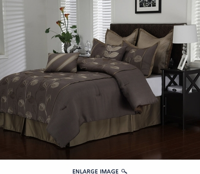 8 Piece King Mandalay Leaf Comforter Set