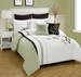 8 Piece King Olney Leaf Embroidered Bedding Comforter Set