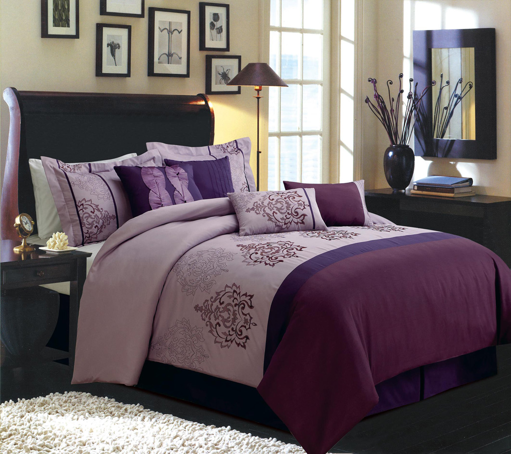 Purple and grey bedding royal empire comforter bedding