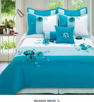 8 Piece Queen Arielle Bedding Comforter Set