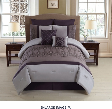 8 Piece  Queen Audrina Comforter Set