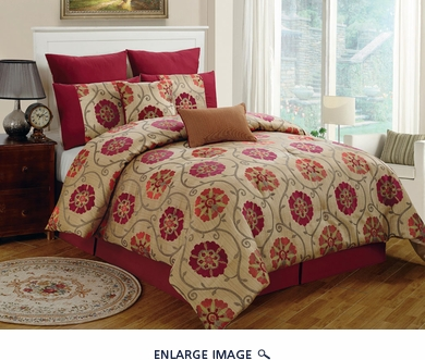 8 Piece Queen Azra Chenille Comforter Set