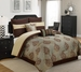 8 Piece Queen Bastille Jacquard/Embroidered Comforter Set
