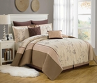 8 Piece Queen Branchland Embroidered Comforter Set
