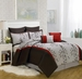 8 Piece Queen Brookfield Embroidered Comforter Set