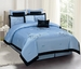 8 Piece Queen Camilla Blue Embroidered Comforter Set