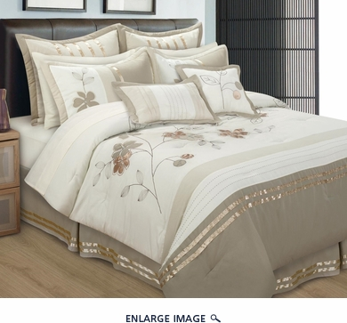 8 Piece Queen Dahlia Comforter Set
