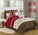 8 Piece Queen Freya Floral Embroidered Comforter Set