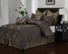 8 Piece Queen Mandalay Leaf Comforter Set