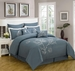 8 Piece Queen Monroe Coral Comforter Set