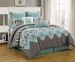 8 Piece Queen Monte Carlo Bedding Comforter Set
