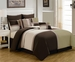 8 Piece Queen Picasso Sage Comforter Set