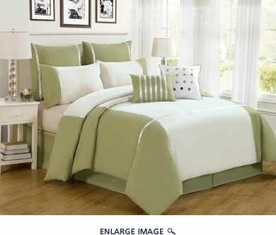 8 Piece Queen Vienna Sage Comforter Set