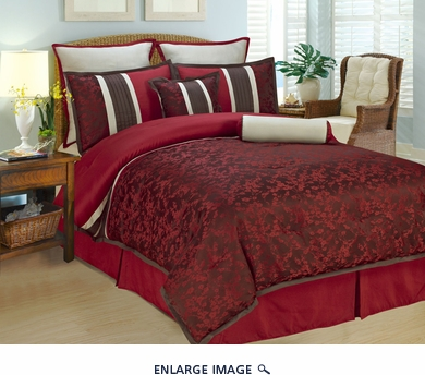 8Pcs Cal King Autumn Blossom Bedding Comforter Set