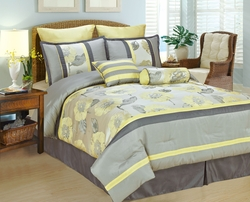 8Pcs King Peony Bedding Comforter Set
