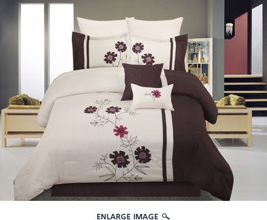 8Pcs Queen Mariko Bedding Comforter Set