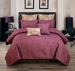 8Pcs Queen Sophie Jacquard Bedding Comforter Set