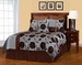 8Pcs Queen Zinnia Jacquard Bedding Comforter Set