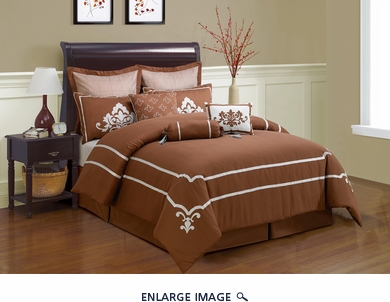 9 Piece Cal King Joshwa Comforter Set