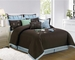 9 Piece Cal King Salzer Brown Comforter Set