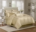 9 Piece Cal King Pavillion Gold 500TC 100% Cotton Comforter Set