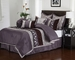9 Piece Cal King Riley Purple Comforter Set
