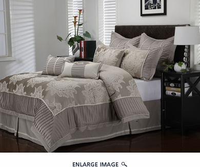 9 Piece Cal King Therese Comforter Set