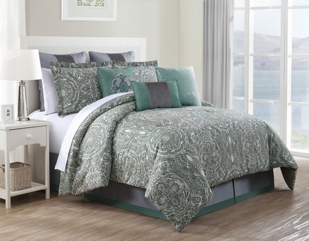 9 Piece Clara 100% Cotton Comforter Set