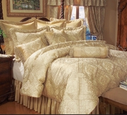 9 Piece Gold Imperial Comforter Set