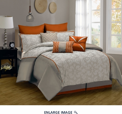 9 Piece King Anderson Embroidered Comforter Set