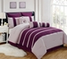9 Piece King Barri Plum Comforter Set