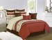 9 Piece King Edena Embroidered Comforter Set