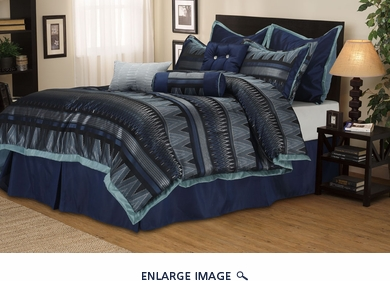9 Piece King Ezra Bedding Comforter Set